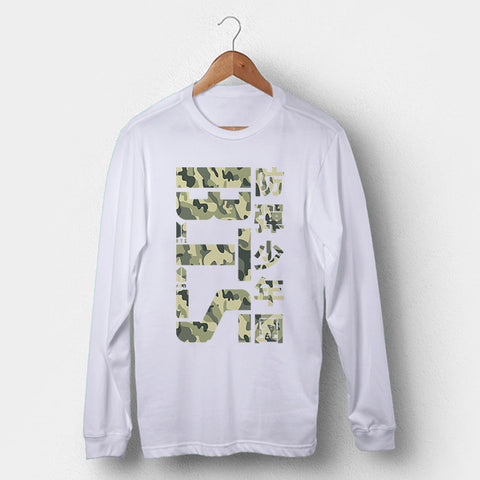 BTS Army Camo Man's Long Sleeve | Leaftunes