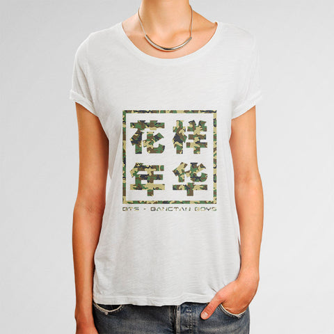 BTS Army Camouflage Woman's T-Shirt | Leaftunes