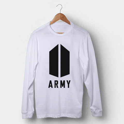 BTS Army Logo Man's Long Sleeve | Leaftunes