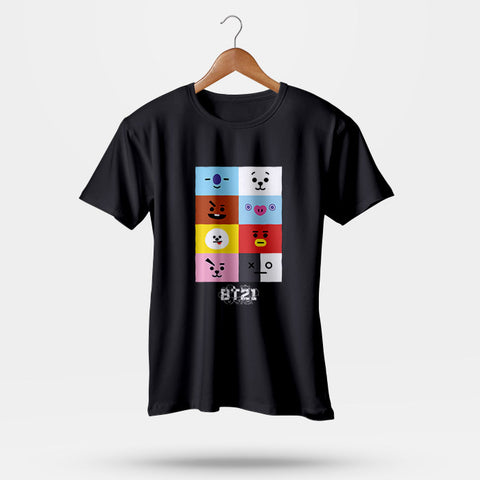 BTS BT21 Men T-Shirt | Leaftunes