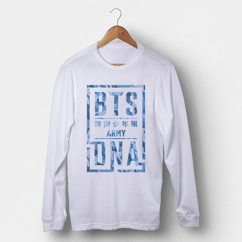BTS DNA Army Camo Man's Long Sleeve | Leaftunes