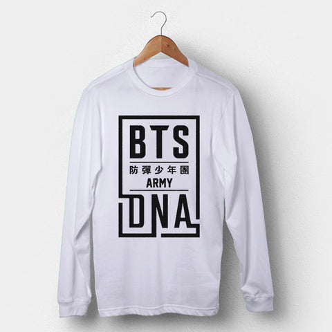 BTS DNA Army Man's Long Sleeve | Leaftunes