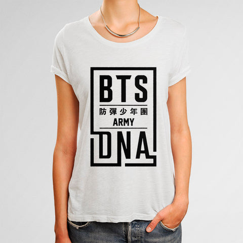 BTS DNA Army Woman's T-Shirt | Leaftunes