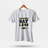 Do More Say Less Michigan 2 Men T-Shirt | Leaftunes