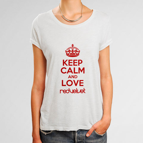 Keep Calm and Love Red Velvet Woman's T-Shirt | Leaftunes