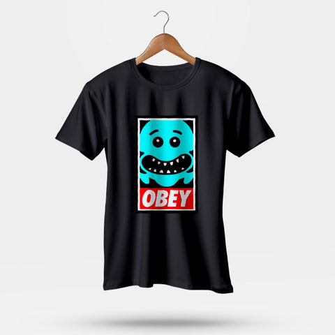 The Meeseeks OBEY Rick and Morty Men T-Shirt | Leaftunes
