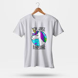 Unicorn Awesome Men T-Shirt | Leaftunes