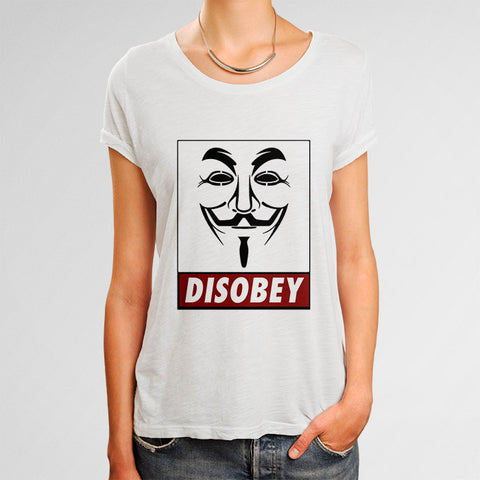 Anonymous Disobey Woman's T-Shirt | Leaftunes