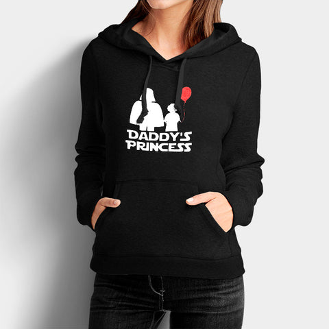 Daddy's Princess Star Wars Darth Vader and Leia Woman's Hoodies | Leaftunes