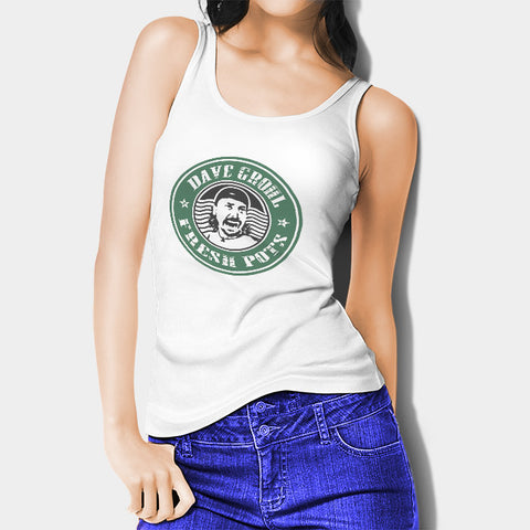 Dave Grohl Fresh Pots! Starbucks Woman's Tank Top I | Leaftunes