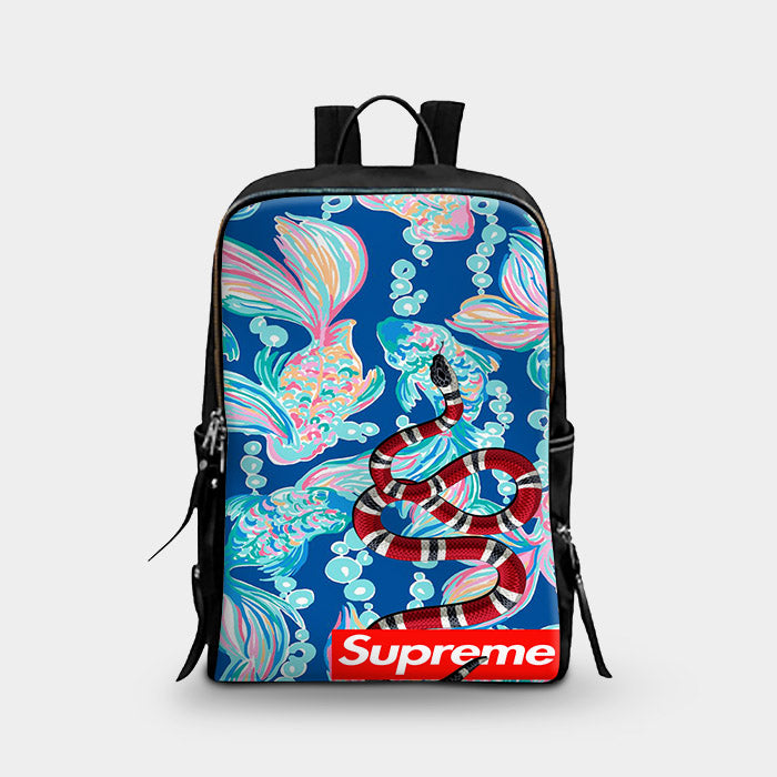 Gucci Snake Supreme Lilly Pulitzer School Backpacks – Leaftunes2 abaadf45e7e2a