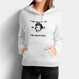 A Womans Place Is In The Resistance Princess Leia Woman's Hoodies | Leaftunes