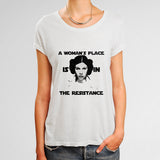 A Womans Place Is In The Resistance Princess Leia Woman's T-Shirt | Leaftunes
