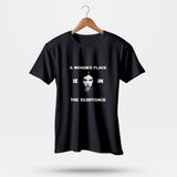 A Womans Place Is In The Resistance Princess Leia2 Men's T-Shirt | Leaftunes