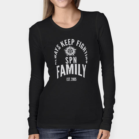 Always Keep Fighting Supernatural Family Woman's Long Sleeve | Leaftunes
