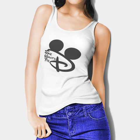 She Wants The D Disney Woman's Tank Top I | Leaftunes