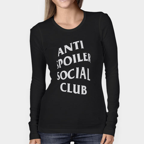 Anti Spoiler Social Club Woman's Long Sleeve | Leaftunes