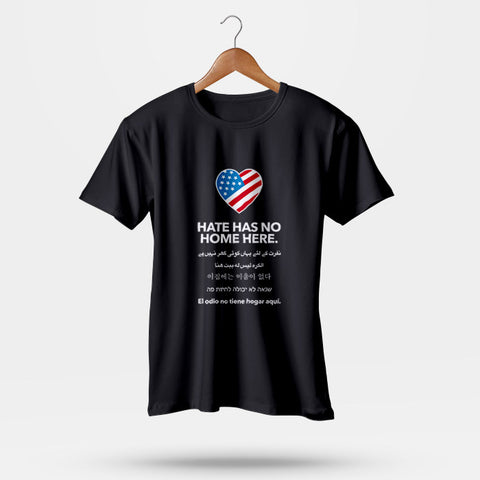 Hate has No Home Here Multi Language Man's T-Shirt | Leaftunes