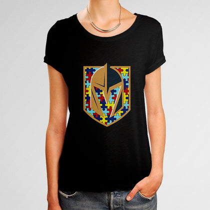 NHL Vegas Golden Knights Autism Woman's T-Shirt | Leaftunes