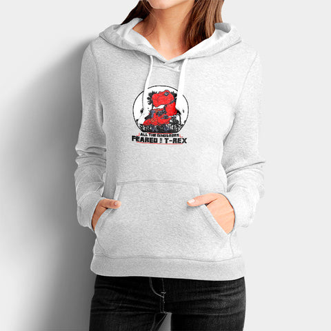 All The Dinosaurs Feared The D Rex Woman's Hoodies | Leaftunes