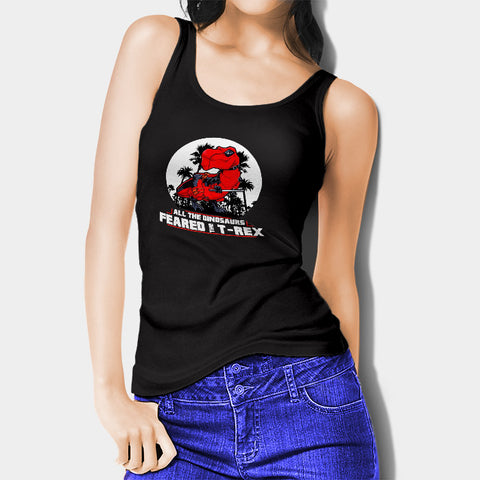 All The Dinosaurs Feared The D Rex Woman's Tank Top I | Leaftunes