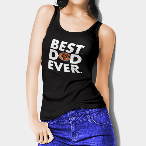 Best Dad Ever Father's Day Chicago Bears Woman's Tank Top I | Leaftunes