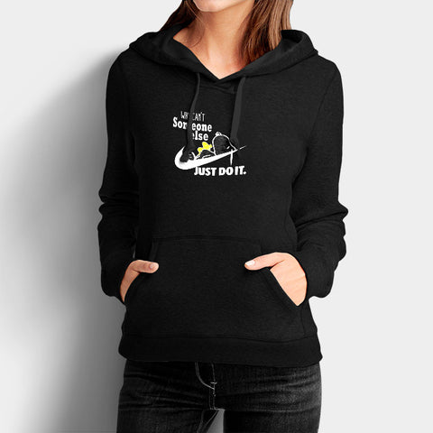 ad137d2661 Can t Someone Else Just Do It Nike Snoopy Woman s Hoodies