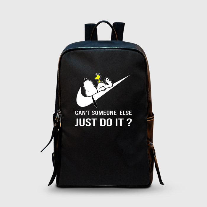 c0fb1516d3 Can t Someone Else Just Do It Snoopy Nike School Backpacks