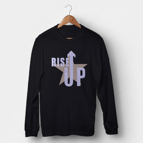 Rise Up Hamilton Musical Star Man's Long Sleeve | Leaftunes