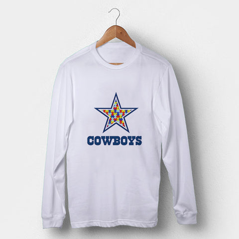 Dallas Cowboys Autism Awareness Man's Long Sleeve | Leaftunes
