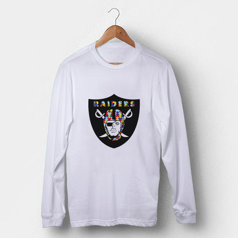 Oakland Raiders Autism Awareness Man's Long Sleeve | Leaftunes