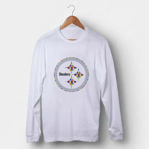 Pittsburgh Steelers Autism Awareness Man's Long Sleeve | Leaftunes