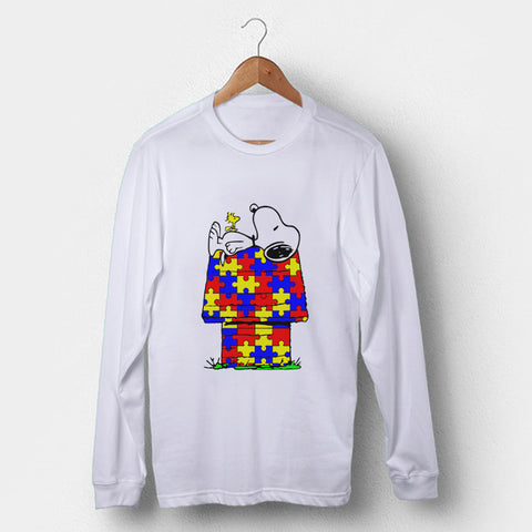 Snoopy Woodstock Autism Awareness Man's Long Sleeve | Leaftunes