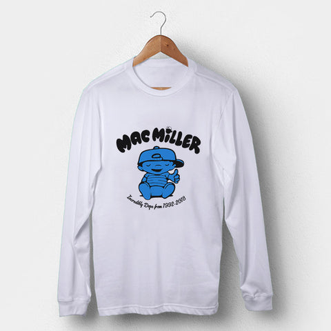 Mac Miller Incredibly Dope 1992-2018 Man's Long Sleeve | Leaftunes