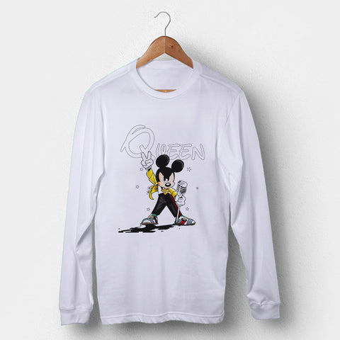 Queen Freddy Mercury Disney Mickey Mouse Man's Long Sleeve | Leaftunes