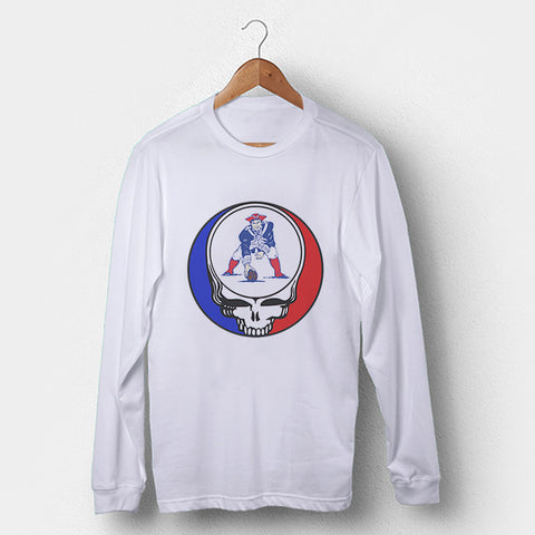 Greatful Dead New England Patriots Logo Old Man's Long Sleeve | Leaftunes