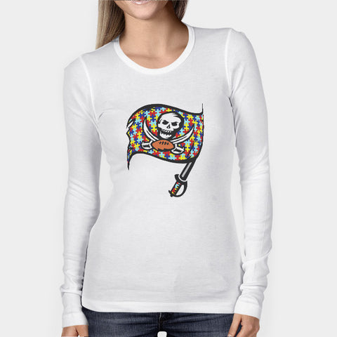 Tampa Bay Buccaneers Autism Awareness Woman's Long Sleeve | Leaftunes