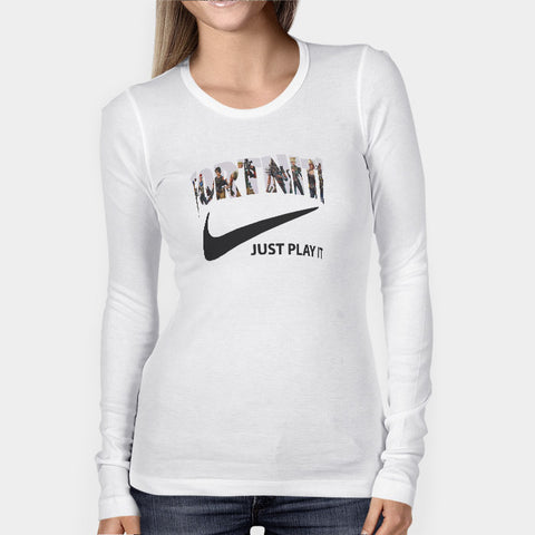 Fortnite Just Play It Logo Woman's Long Sleeve | Leaftunes