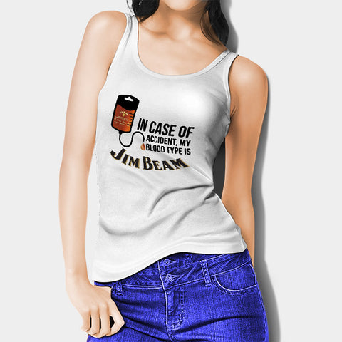 My Blood Type Is Jim Beam Woman's Tank Top | Leaftunes
