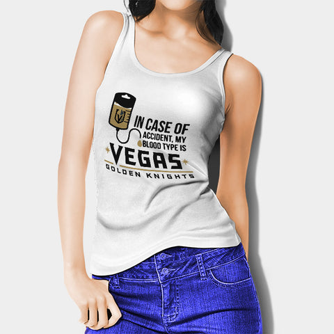My Blood Type Is Vegas Golden Knight Woman's Tank Top | Leaftunes