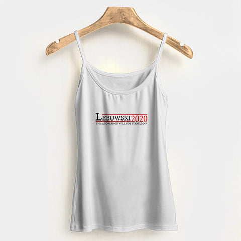 Lebowski 2020 Woman's Tank Top Halter Top | Leaftunes