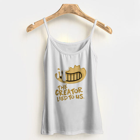 Bendy The Creator Lied to Us Woman's Tank Top Halter Top | Leaftunes