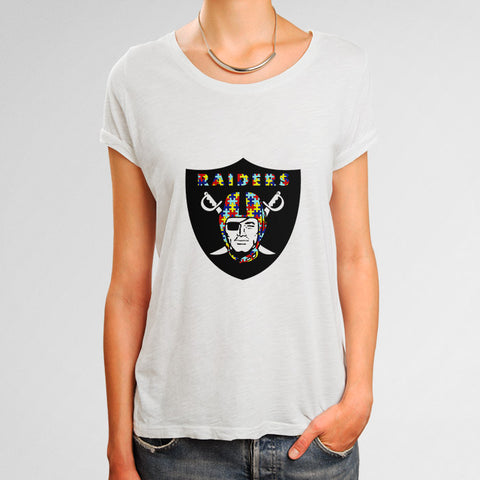 Oakland Raiders Autism Awareness Woman's T-Shirt | Leaftunes