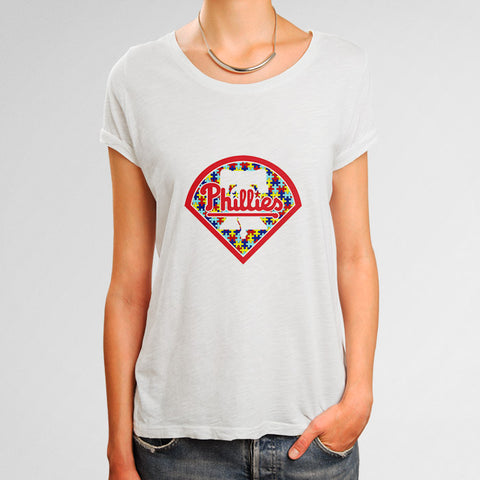 Philadelphia Phillies Autism Awareness Woman's T-Shirt | Leaftunes