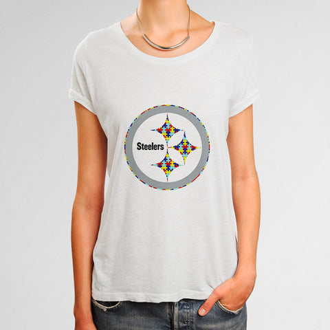 Pittsburgh Steelers Autism Awareness Woman's T-Shirt | Leaftunes