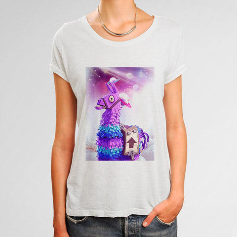 Fortnite Loot Llama Woman's T-Shirt | Leaftunes