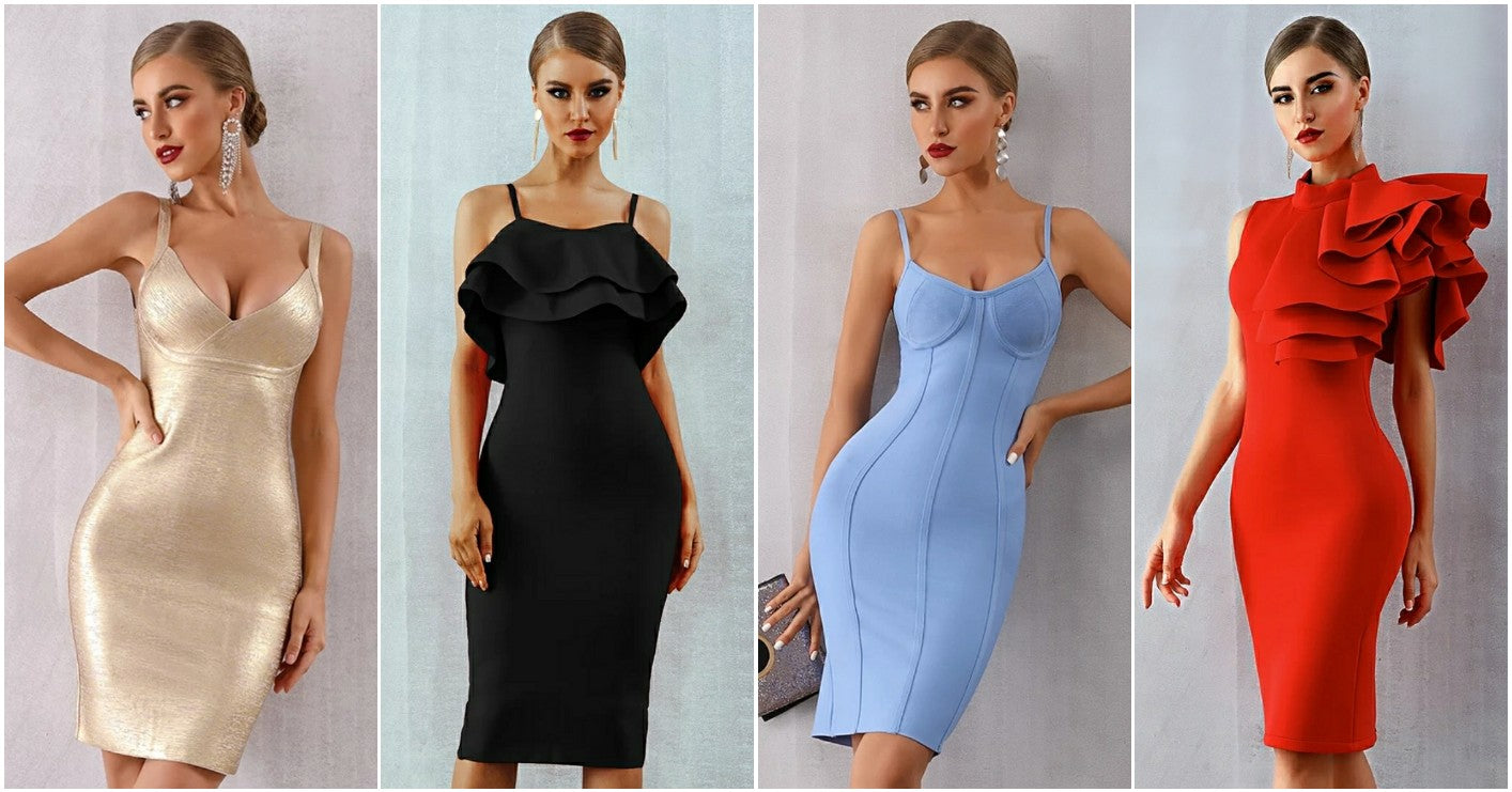 cheap homecoming bandage dresses