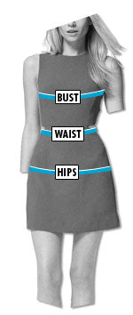 top glam shop how to measure womens
