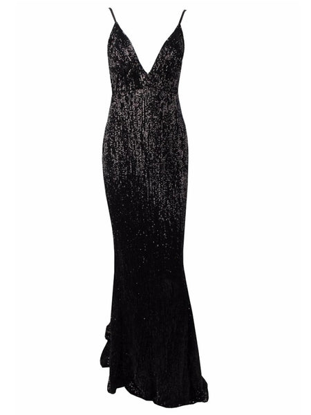 Zahra Gown- Black - Top Glam Shop