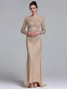 Anastasia Crystal Gown- Gold